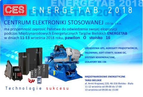 Zasilacze UPS CES na targach Energetab 2018. Zaproszenie
