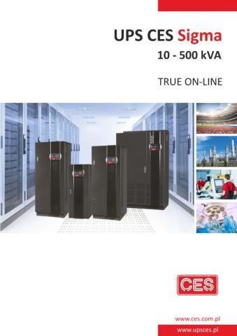 Zasilacz UPS CES Sigma w zakresie mocy 10-500 kVA nowa seria, nowe parametry