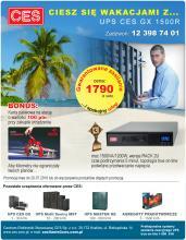 Zasilacz UPS CES GX 1500R w promocyjnej cenie oraz karta paliwowa w prezencie