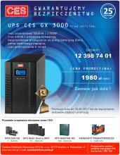Zasilacze UPS CES GX w cenie 1980 zł netto